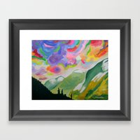 First Snow On The Coquih… Framed Art Print