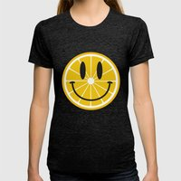 Lemon Womens Fitted Tee Tri-Black SMALL