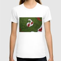 Underwater Crocs Womens Fitted Tee White SMALL