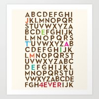Je T'aime 4 Ever Art Print