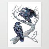 Odin's Ravens Art Print