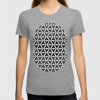 Abstract 3d Grainy Womens Fitted Tee Tri-Grey SMALL