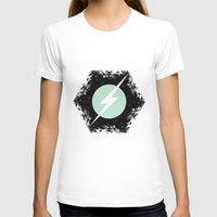 BOLT THROUGH PORTAL. Womens Fitted Tee White SMALL