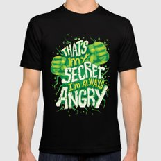 I'm always angry Mens Fitted Tee Black SMALL