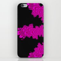 pink and black fractal iPhone & iPod Skin