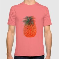 3d Pineapple Mens Fitted Tee Pomegranate SMALL