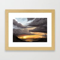 Sunset Sky Framed Art Print