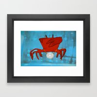 Ghetto Crabulous Framed Art Print
