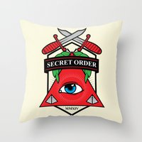 Secret Order Throw Pillow
