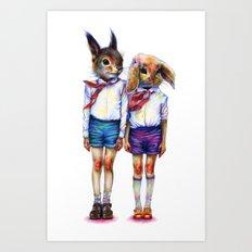 Shurik and Lyosha Art Print