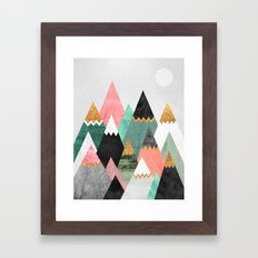 Pretty Mountains Framed Art Print
