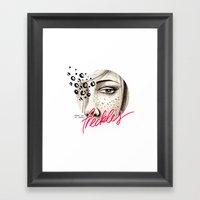 Freckles Framed Art Print