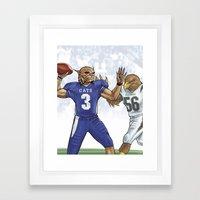 Wildcats versus Eagles Framed Art Print