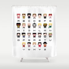 Rock Music Alphabet Shower Curtain