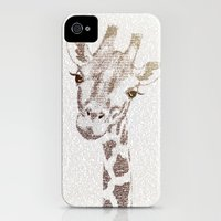 iPhone Cases featuring The Intellectual Giraffe by Paula Belle Flores