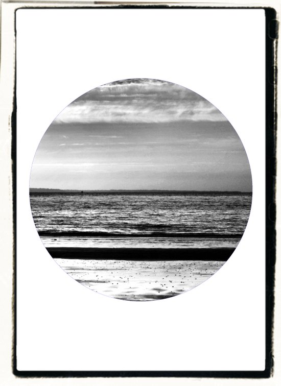 Black and White Beach Art Print