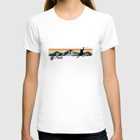 Off Piste Ski Womens Fitted Tee White SMALL