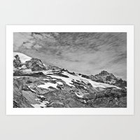 Rugged Mountain Hike Art Print