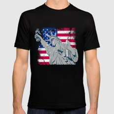freedom... SMALL Black Mens Fitted Tee