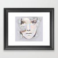HER BREATH ON GLASS Framed Art Print