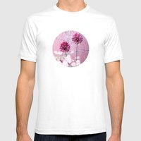 Purple On Purple Mens Fitted Tee White SMALL