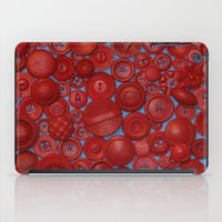 Red Buttons iPad Case