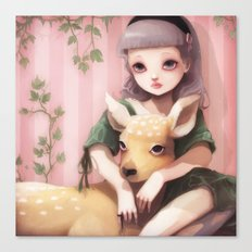 My dear lady deer... Canvas Print