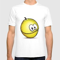 PASSION FRUIT | PARCHITA Mens Fitted Tee White SMALL