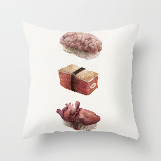 Fresh Flesh Throw Pillow