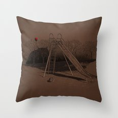 when monster can't live happy forever Throw Pillow