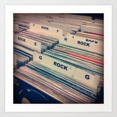 Vinyl Shopping Art Print