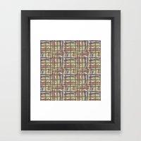 Midtown Plaid XL Framed Art Print