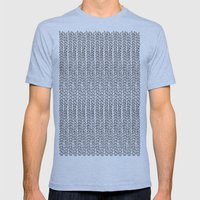 Knit Outline Mens Fitted Tee Tri-Blue SMALL