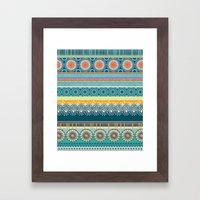 Blue Streaks Framed Art Print