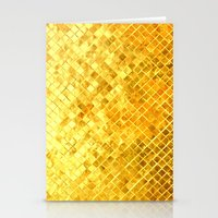 Give me Gold: festive, golden, fashionable, 3-d, glittery, Christmas, cheerful, lattice design Stationery Cards