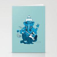Ganesha Rocks ! (v3) Stationery Cards