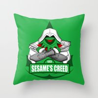 Sesame's Creed Throw Pillow
