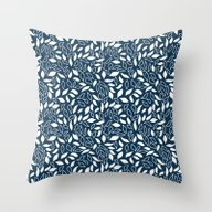 Throw Pillow featuring Wilderness Leaves by Juliana RW