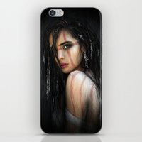Pale Feathers iPhone & iPod Skin