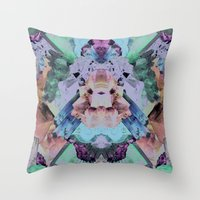 Crystal Collage Throw Pillow