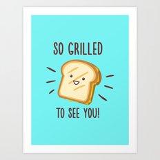 Cheesy Greetings! Art Print