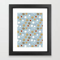 Cookies & Milk Framed Art Print