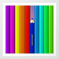 Color Me Happy :)  Art Print