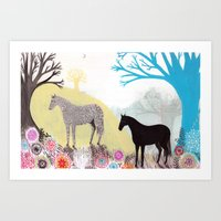 The Stillness of Horses Art Print
