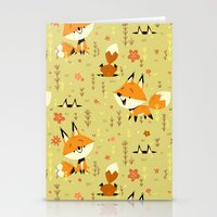 Foxes in the Spring Stationery Cards