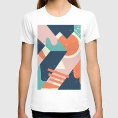 Galactic Pit Womens Fitted Tee White SMALL
