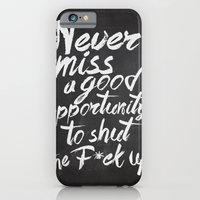iPhone & iPod Case featuring Never miss an opportunity by Old & Brave
