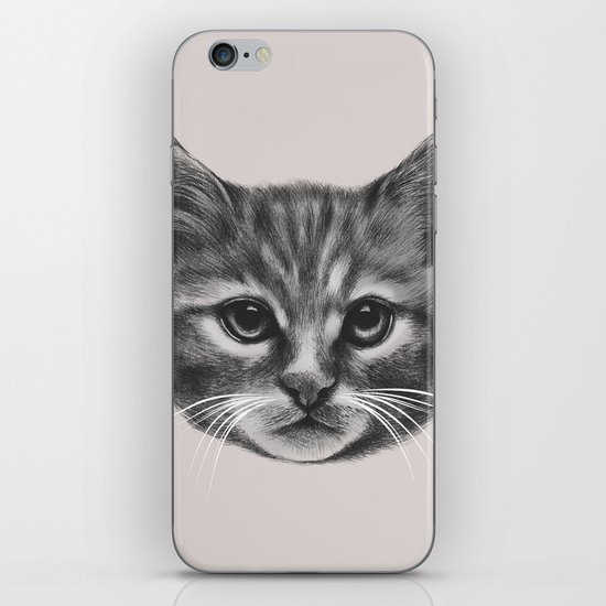 Everybody wants to be a Cat (MONOTONE) iPhone & iPod Skin