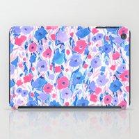Flower Field Lilac Blue iPad Case
