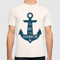 Harbor Mens Fitted Tee Natural SMALL